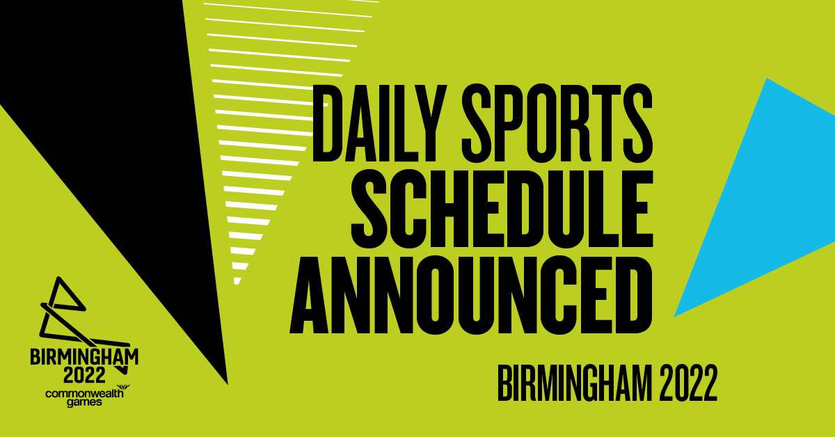 Daily Sports Schedule unveiled for the Birmingham 2022 Commonwealth Games