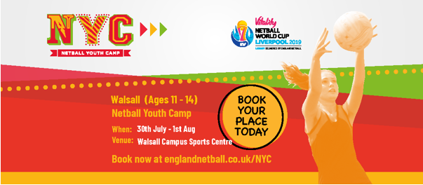 Summer Netball Youth Camp coming to Walsall!