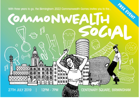 BIRMINGHAM 2022 CELEBRATES THREE YEARS TO GO WITH THE COMMONWEALTH SOCIAL