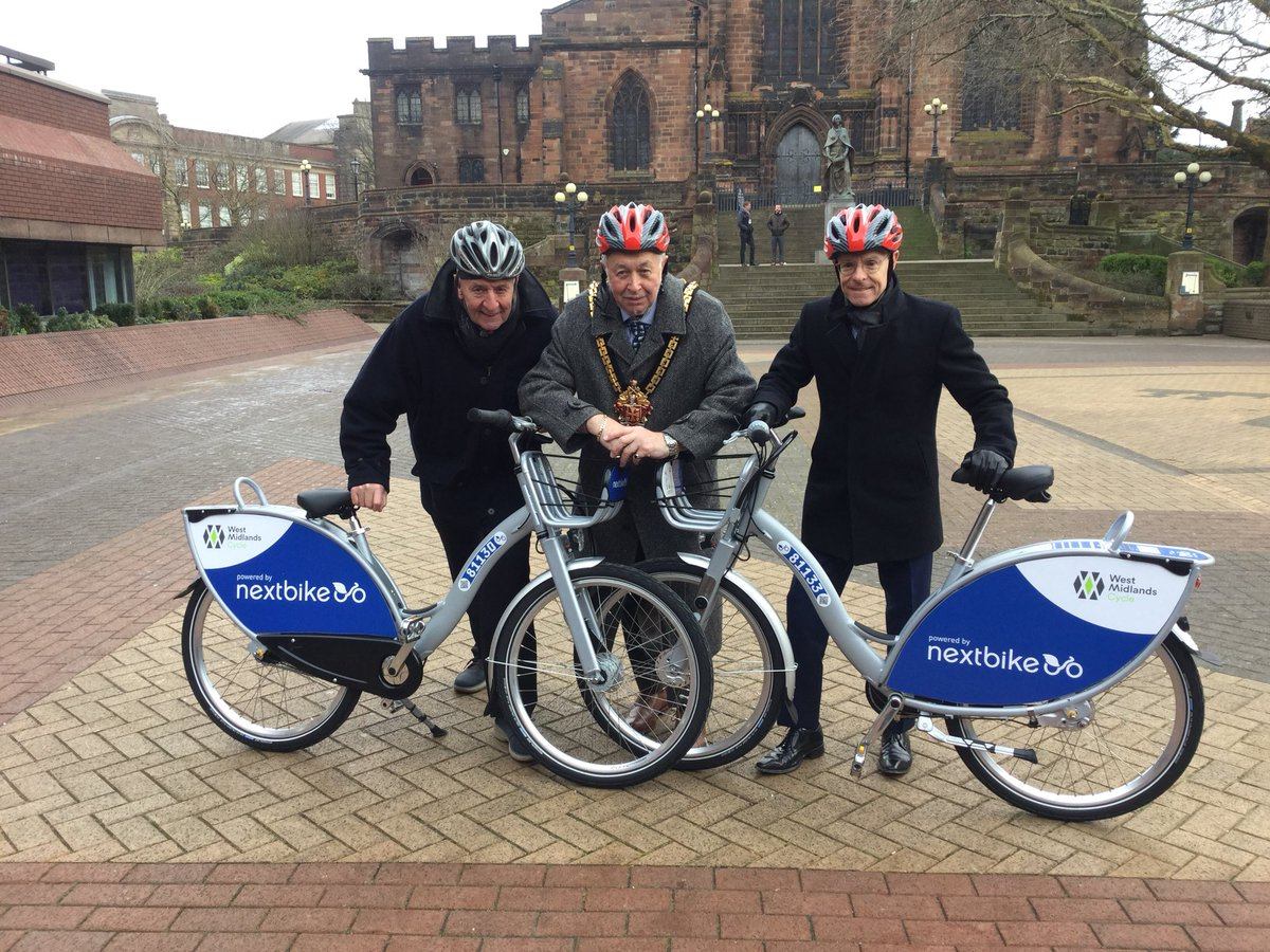 Bike share trial starts in Wolverhampton