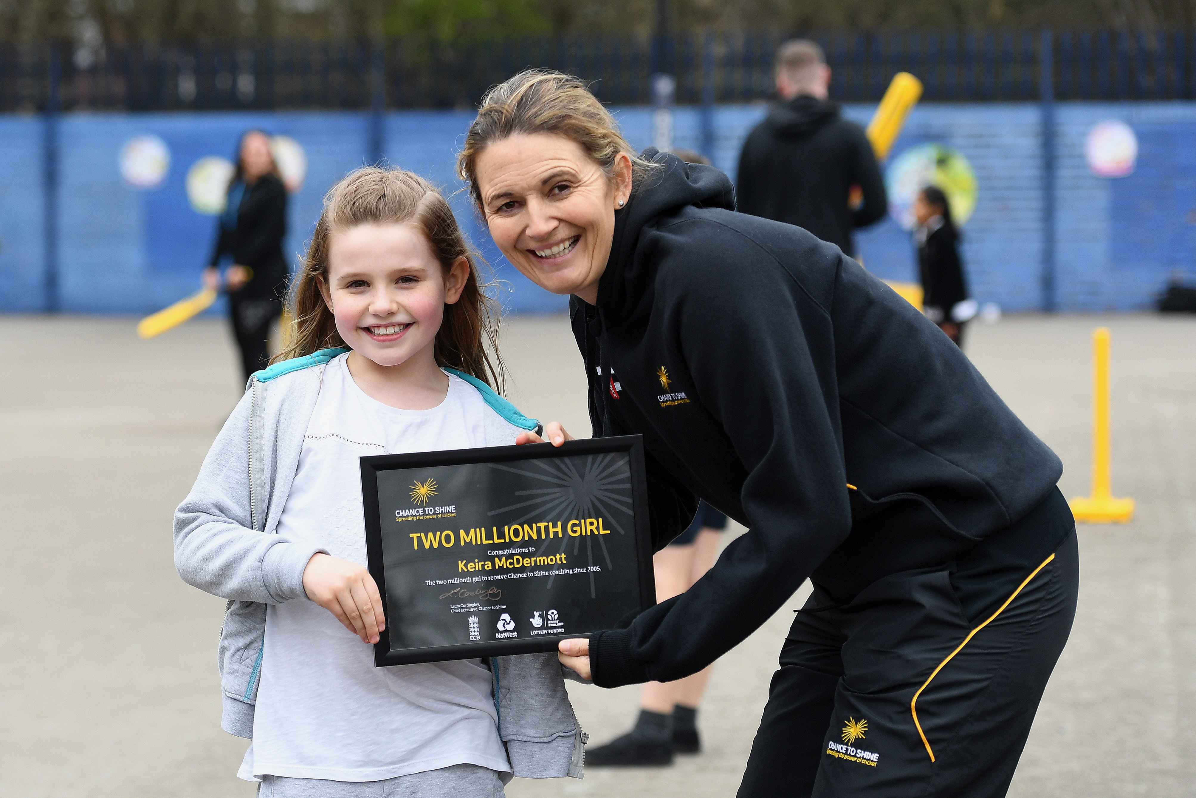 Staffordshire pupil becomes two millionth girl to play cricket, on International Women's Day 2019